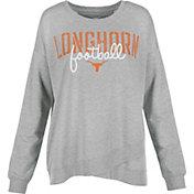 University of Texas Authentic Apparel Women's Texas Longhorns Grey Helen Football Long Sleeve Shirt