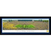 Blakeway Panoramas Michigan Wolverines Framed Panorama Poster