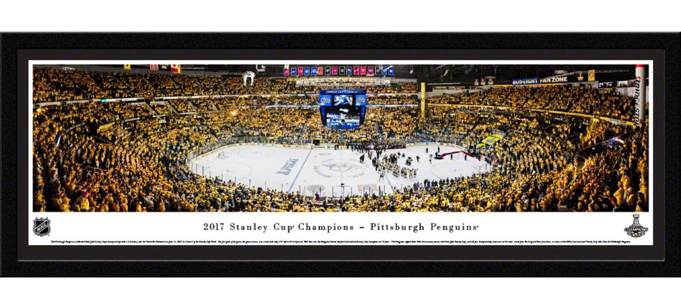 Blakeway Panoramas Pittsburgh Penguins Framed Panorama Poster