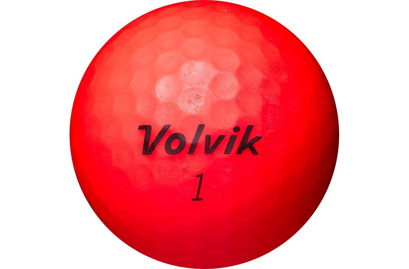 Volvik 2018 VIVID Matte Red Golf Balls