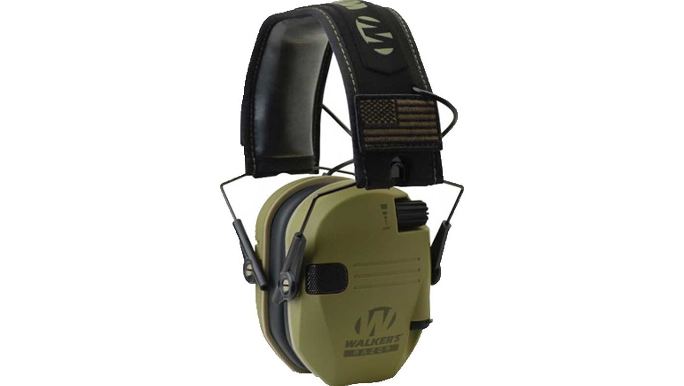 Walker's Game Ear Razor Patriot Series Slim Electronic Muffs