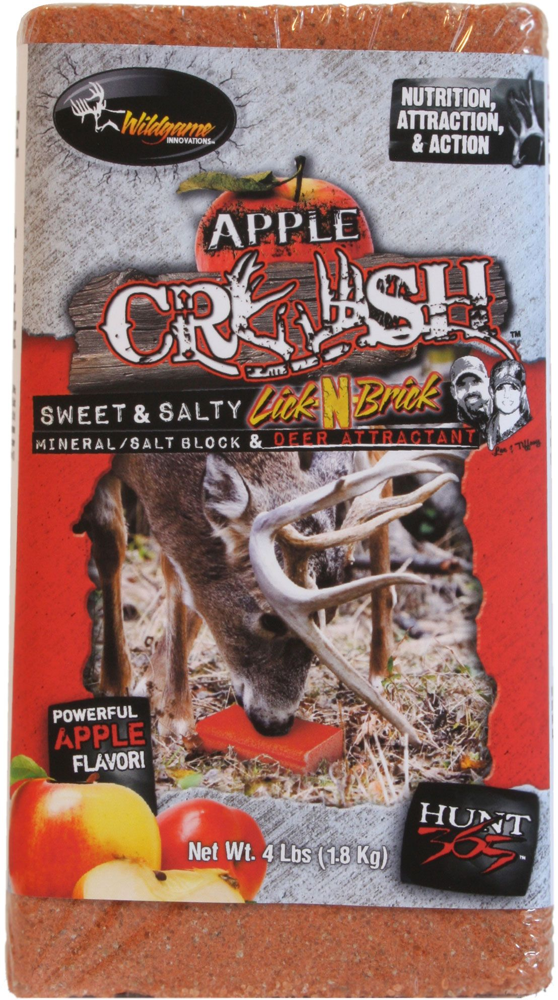 Wildgame Innovations Apple Crush Lick-n-Brick Block Deer Attractant, Size: Small