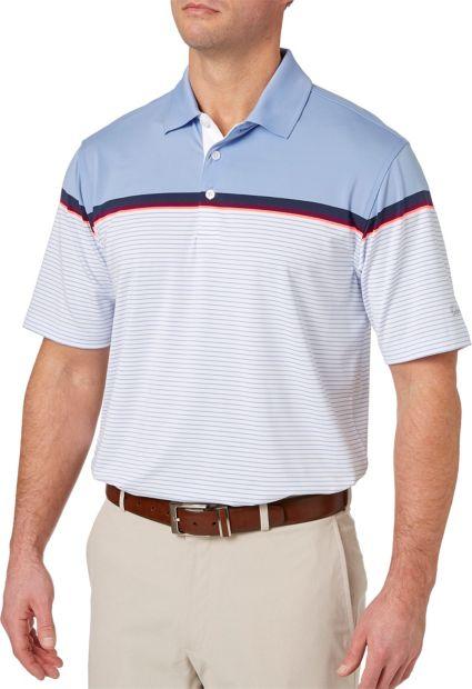Walter Hagen Distinguished Colorblock Stripe Polo