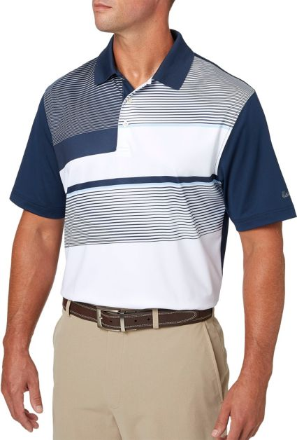 Walter Hagen Geomagnetic Blocked Chest Print Golf Polo
