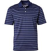 Walter Hagen Men's Essentials Railroad Stripe Golf Polo