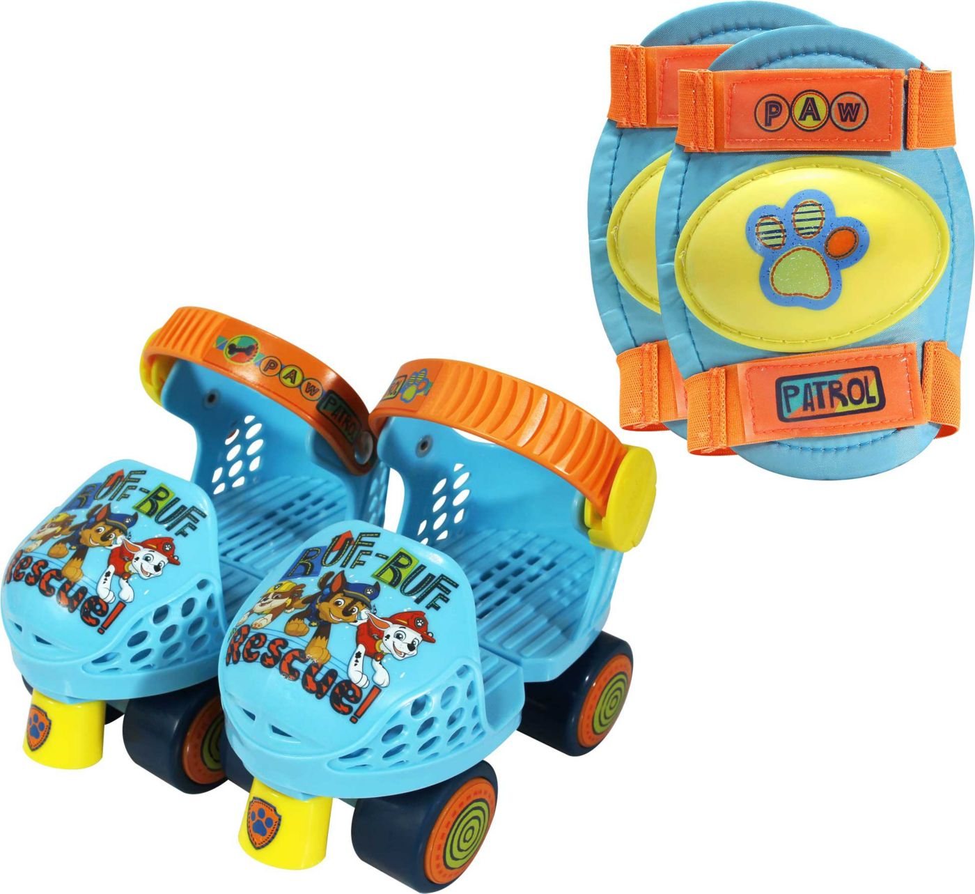 Playwheels Boys' Paw Patrol Roller Skates and Knee Pads