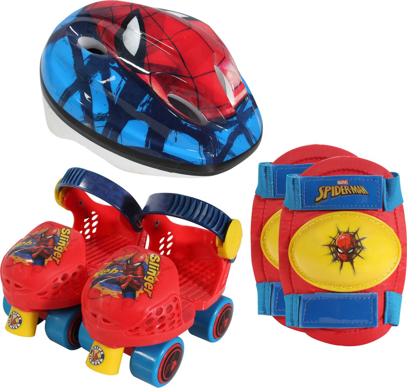 Playwheels Boys' Spider-Man Roller Skate Combo Set
