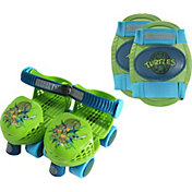 Playwheels Boys' Teenage Mutant Ninja Turtles Roller Skates and Knee Pads