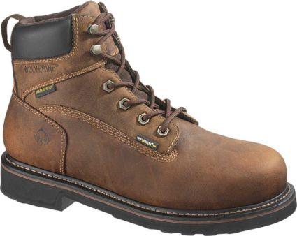 "b1d1c2de278 Wolverine Men's Brek 6"" Waterproof DuraShocks Steel Toe Work Boots"