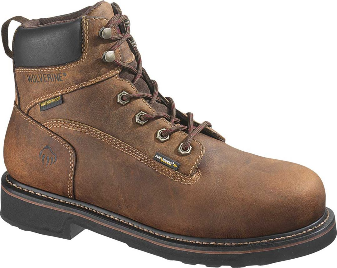 "89e40ec9a16c04 Wolverine Men's Brek 6"" Waterproof DuraShocks Steel Toe Work Boots ..."