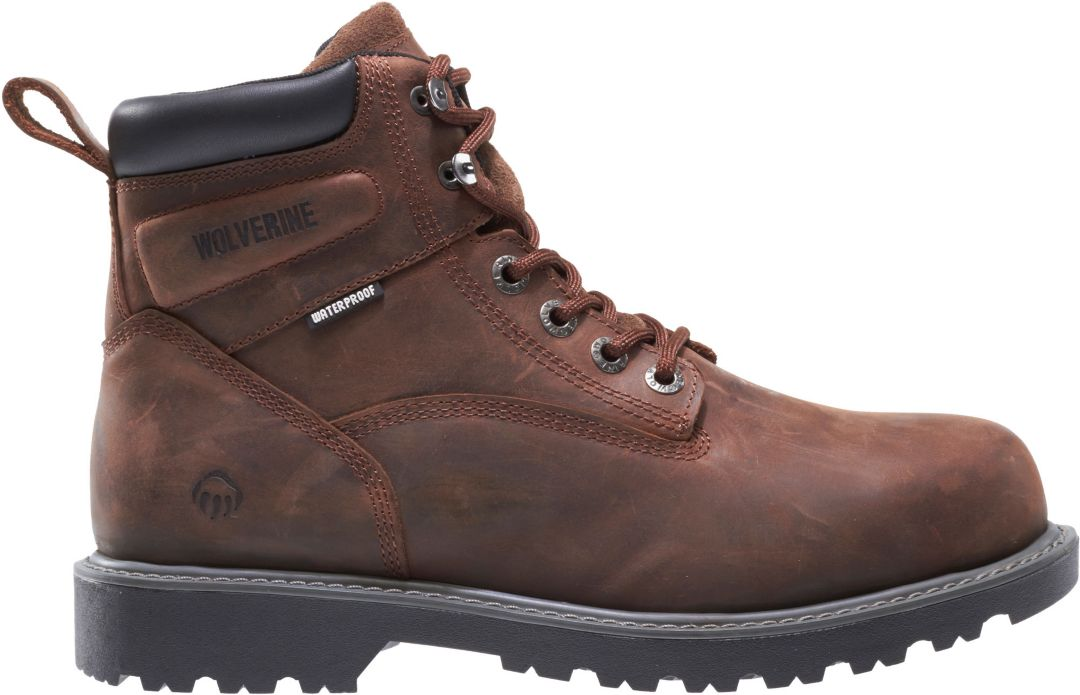 5bf4866b557 Wolverine Men's Floorhand 6'' Steel Toe Work Boots | DICK'S Sporting ...