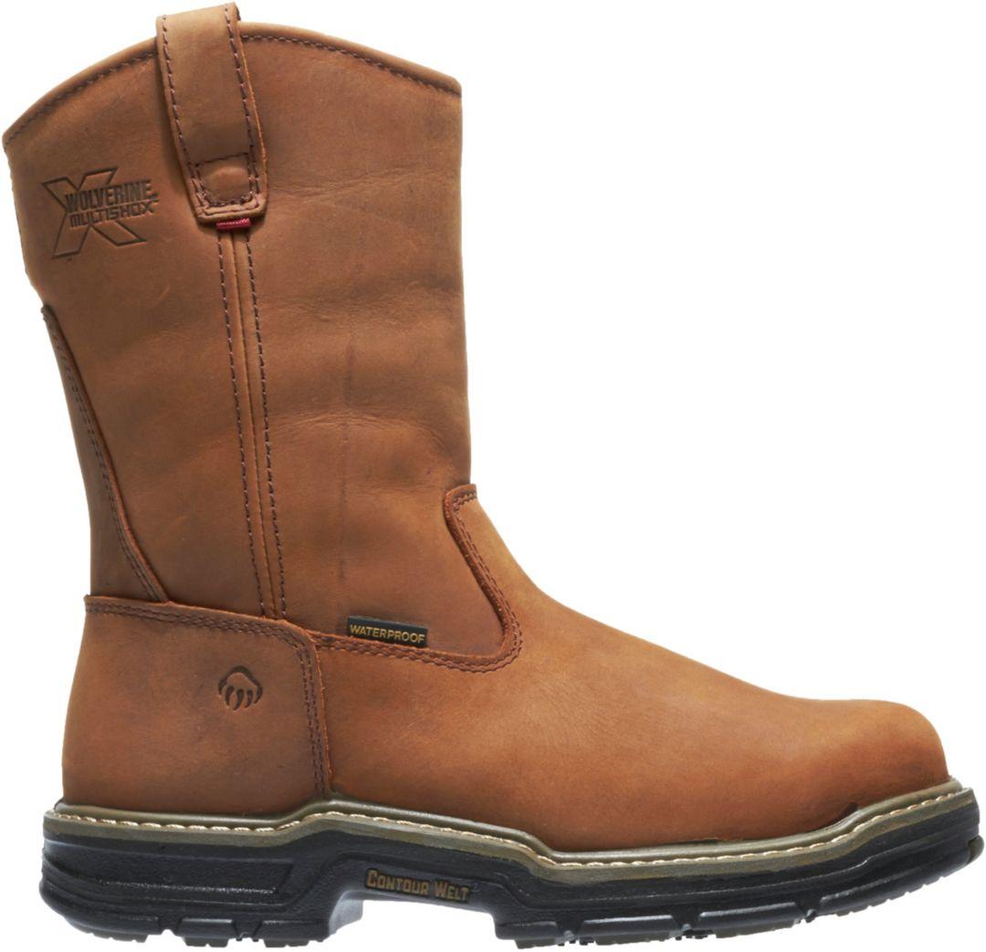 b4ee7a208b9 Wolverine Men's Marauder 10'' Wellington 400g Waterproof Steel Toe Work  Boots
