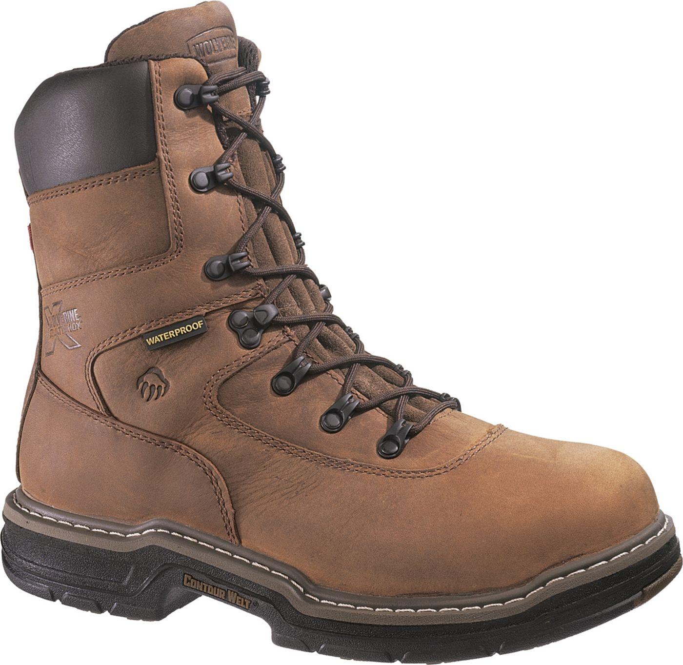 "Wolverine Men's Marauder 8"" Steel Toe 400g Insulated Waterproof Work Boots"