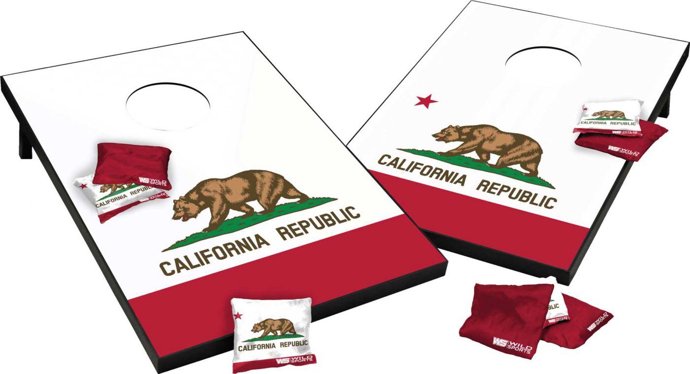 Wild Sports 2' x 3' California State Flag Cornhole Tailgate Toss Game