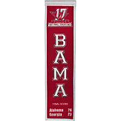Winning Streak 2017 National Champions Alabama Crimson Tide Championship Banner