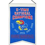 Winning Streak Kansas Jayhawks 5 Time Champions Banner