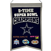 Winning Streak Dallas Cowboys 5 Time Super Bowl Champions Banner