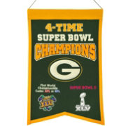 Winning Streak Green Bay Packers 4 Time Super Bowl Champions Banner