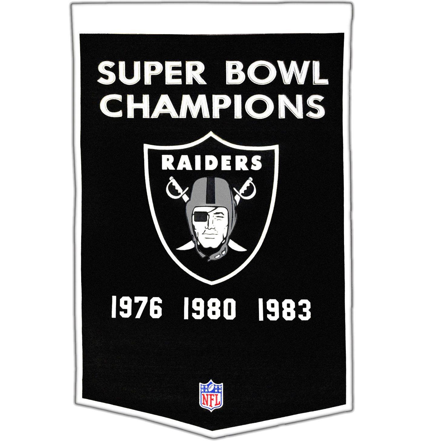 Winning Streak Oakland Raiders Dynasty Banner