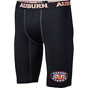 Fandemics Men's Auburn Tigers BaseFit Black Compression Shorts