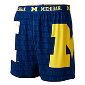 Fandemics Men's Michigan Wolverines Blue Center Seam Base Layer Boxers