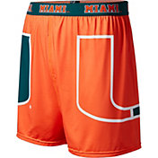 Fandemics Men's Miami Hurricanes Orange Center Seam Base Layer Boxers