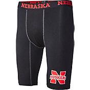 Fandemics Men's Nebraska Cornhuskers BaseFit Black Compression Shorts