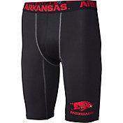 Fandemics Men's Arkansas Razorbacks BaseFit Black Compression Shorts