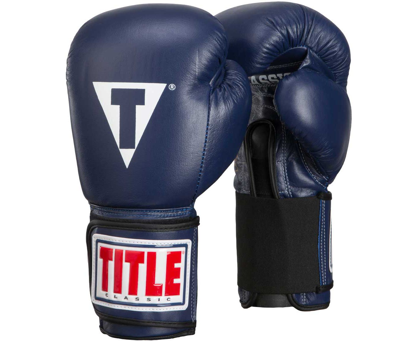 TITLE Boxing Classic Leather Elastic Training Gloves