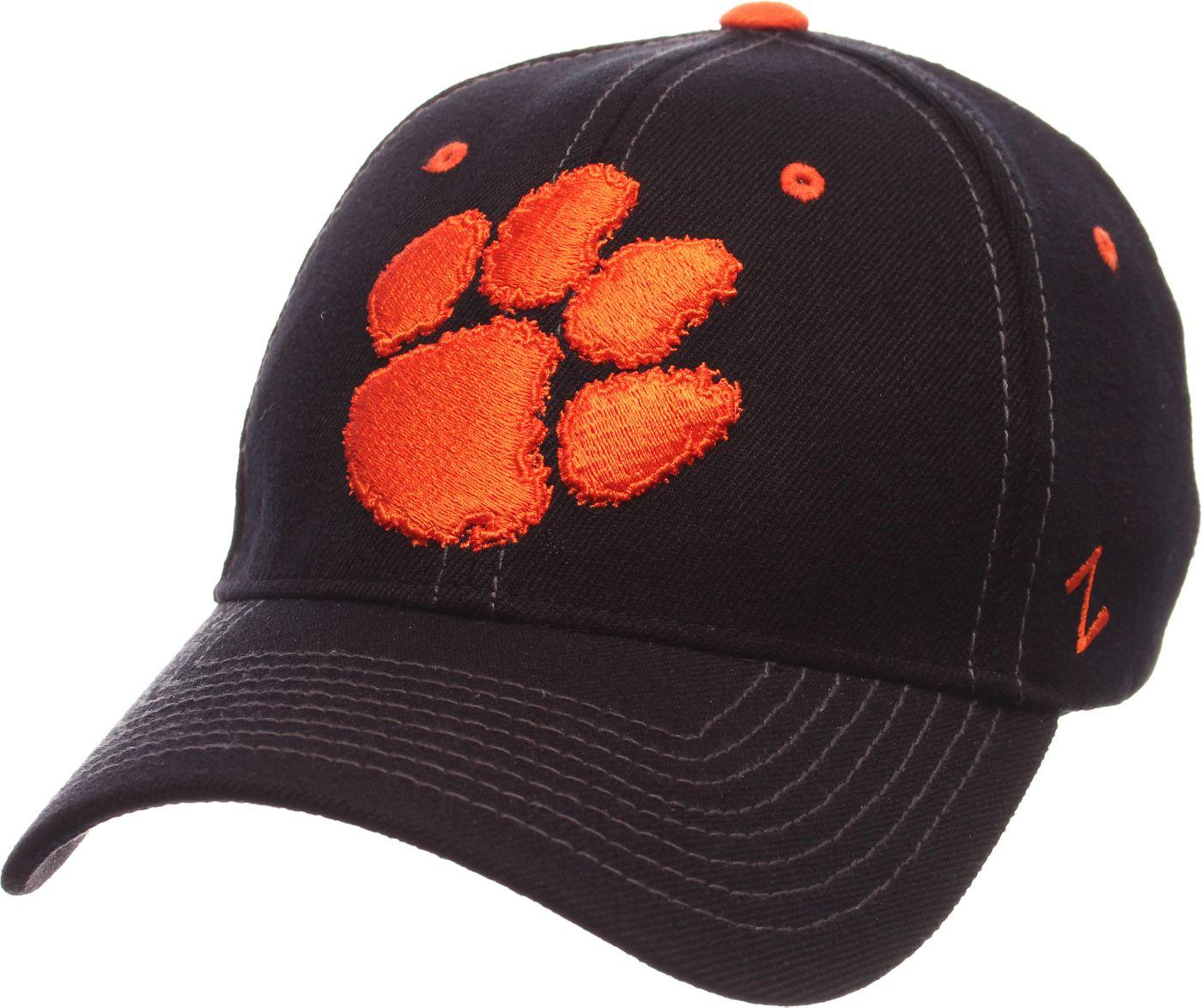 Zephyr Men's Clemson Tigers Black Element ZClassic Flexfit Hat