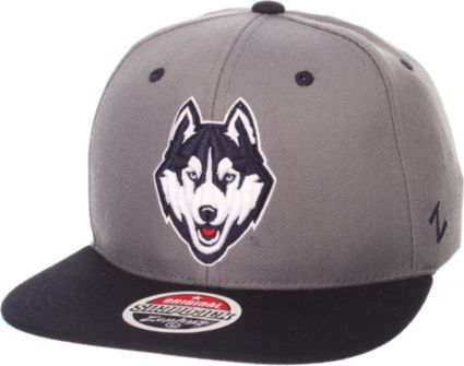 Zephyr Men s UConn Huskies Grey Blue Z-Wool Z11 Snapback Hat ... 344945c9a63