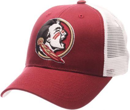 b697c99d23c4e8 Zephyr Men's Florida State Seminoles Garnet/White Big Rig Adjustable Hat