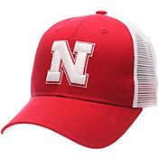 Zephyr Men's Nebraska Cornhuskers Scarlet/White Big Rig Adjustable Hat