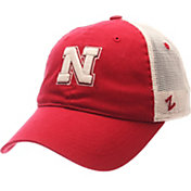 Zephyr Men's Nebraska Cornhuskers Scarlet/White University Adjustable Hat