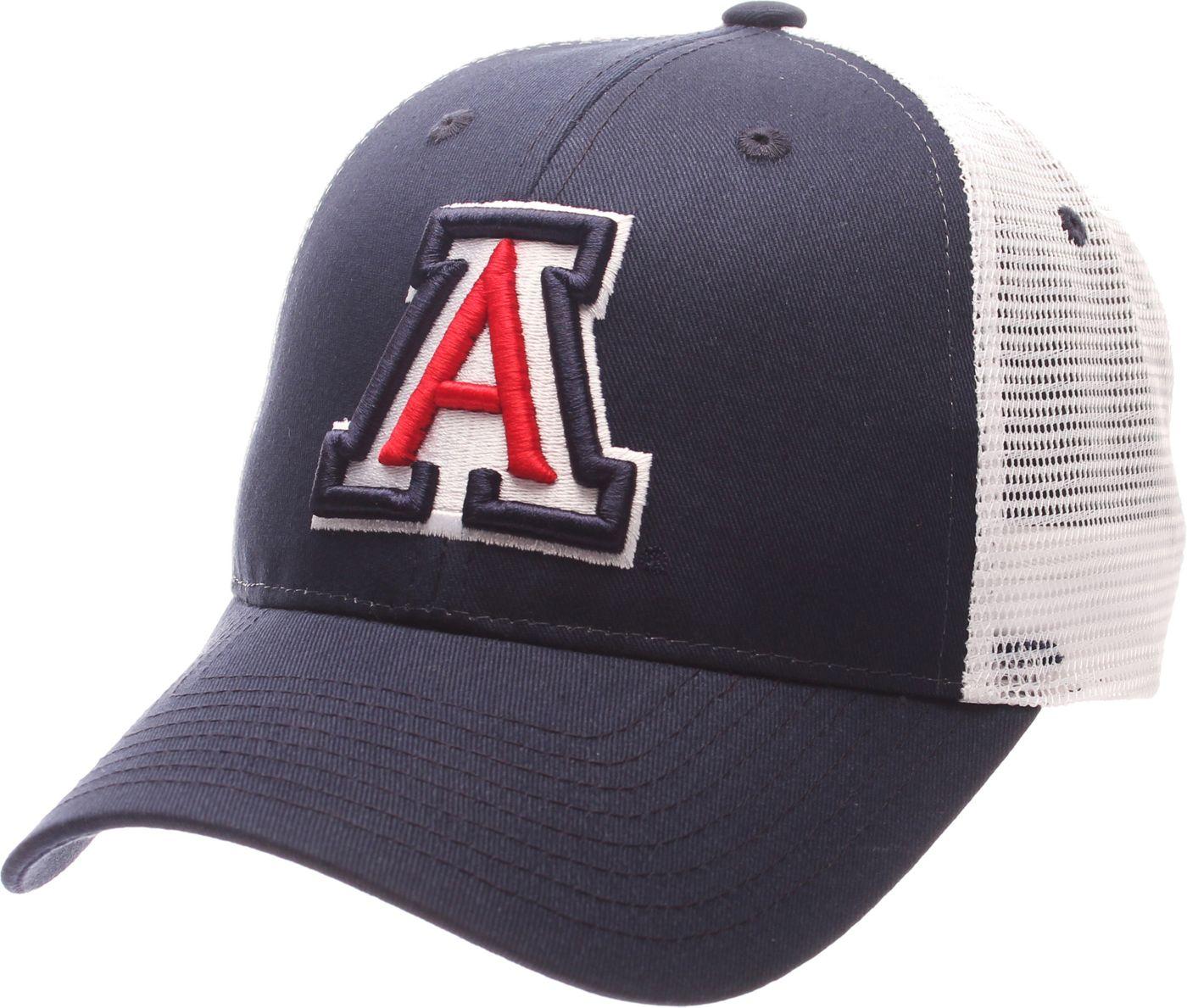 Zephyr Men's Arizona Wildcats Navy/White Big Rig Adjustable Hat