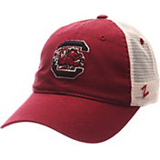 Zephyr Men's South Carolina Gamecocks Garnet/White University Adjustable Hat
