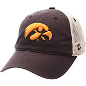 Zephyr Men's Iowa Hawkeyes Grey/White University Adjustable Hat