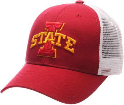 Zephyr Men's Iowa State Cyclones Cardinal/White Big Rig Adjustable Hat