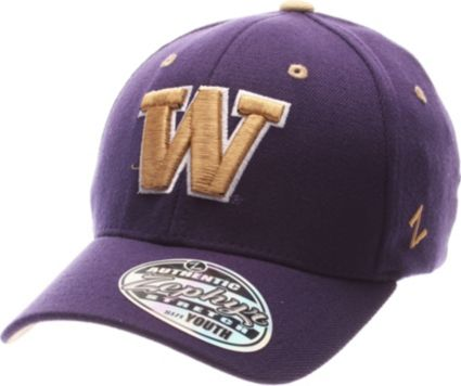 e470913552e85 Zephyr Youth Washington Huskies Purple Z-Wool Flexfit Hat. noImageFound