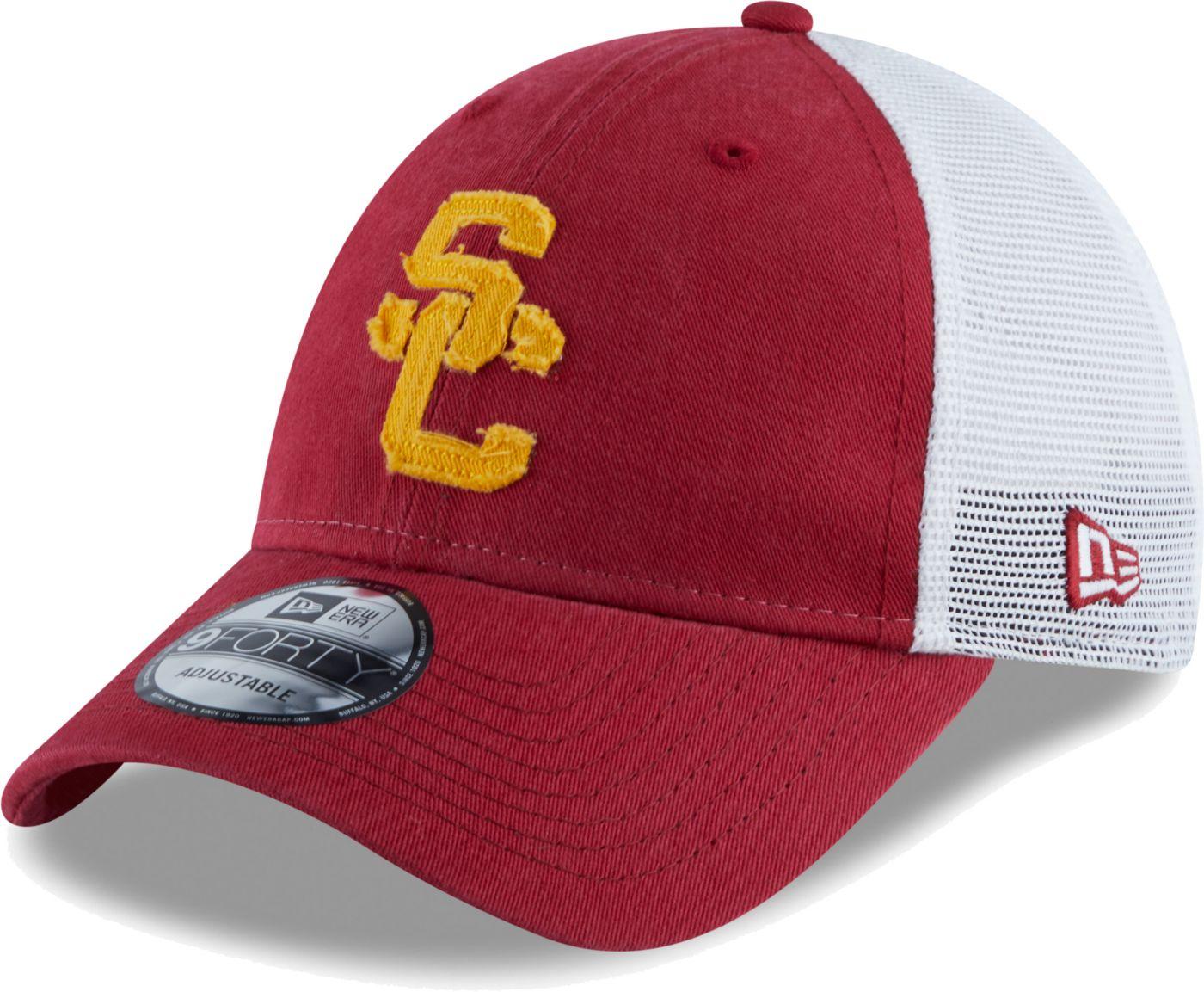 New Era Men's USC Trojans Cardinal Meshback Hat