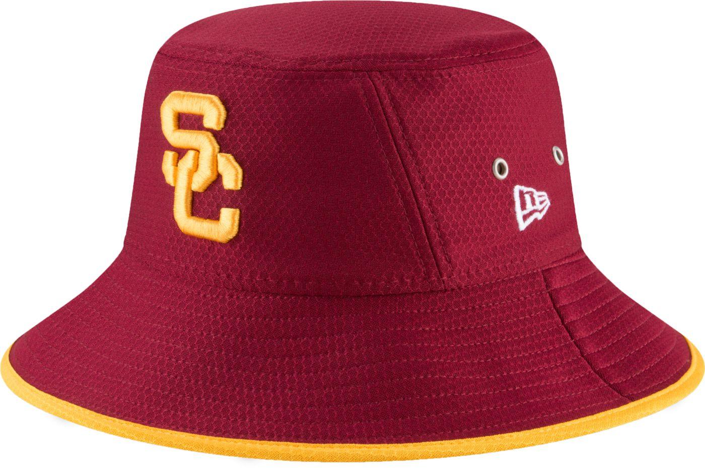 New Era Men's USC Trojans Cardinal Team Bucket Hat