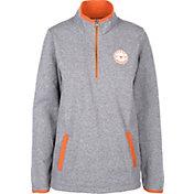 University of Texas Authentic Apparel Women's Texas Longhorns Grey Fiona Quarter-Zip Top
