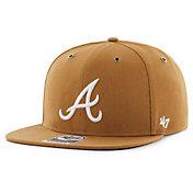 '47 Men's Atlanta Braves Carhartt Captain Brown Adjustable Snapback Hat