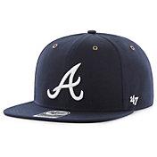 '47 Men's Atlanta Braves Carhartt Captain Navy Adjustable Snapback Hat