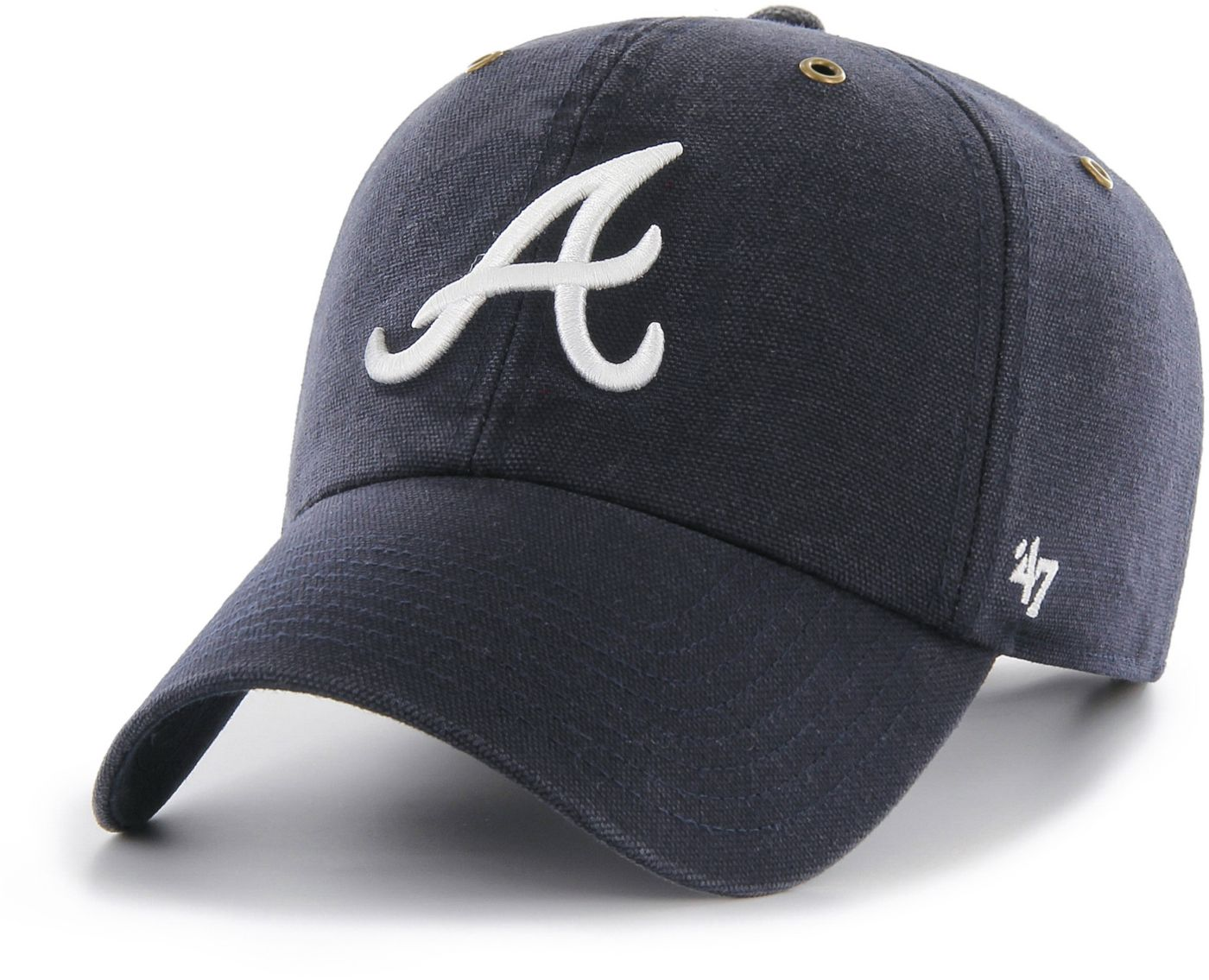'47 Men's Atlanta Braves Carhartt Clean Up Navy Adjustable Hat
