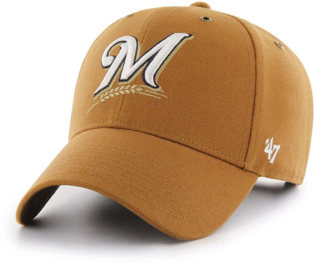 2d892fc16c2679 47 Men's Milwaukee Brewers Carhartt MVP Brown Adjustable Hat | Field ...