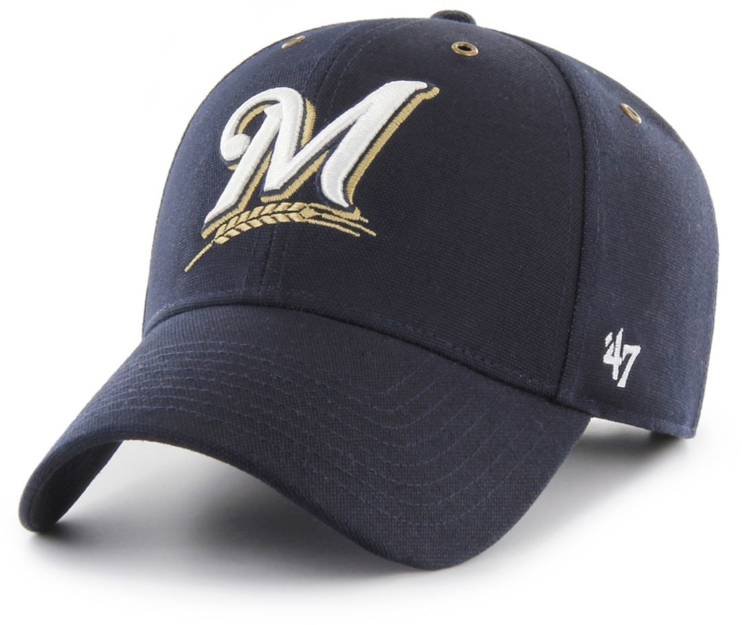8eaaee5c55ef8f 47 Men's Milwaukee Brewers Carhartt MVP Navy Adjustable Hat | DICK'S ...