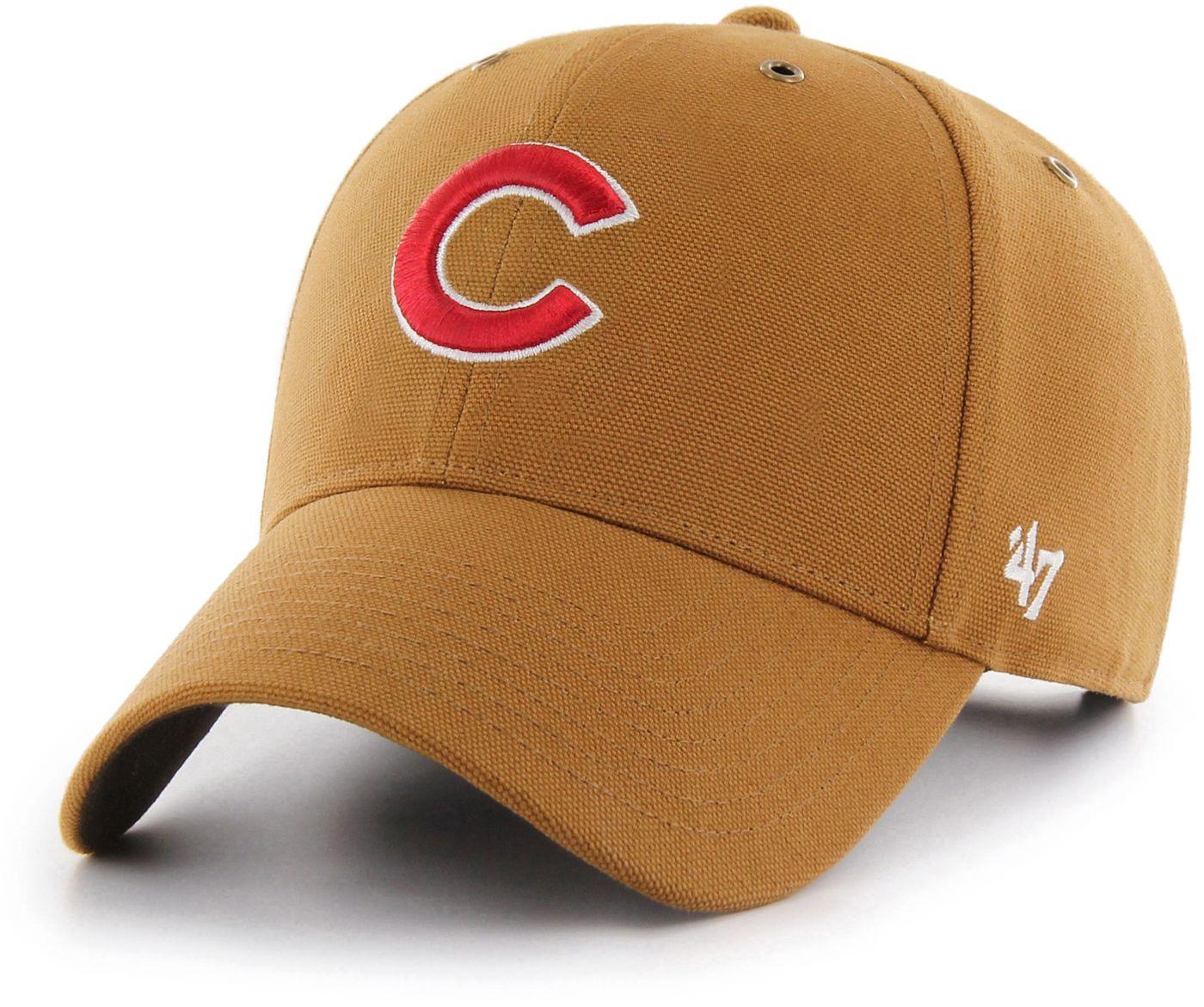 '47 Men's Chicago Cubs Carhartt MVP Brown Adjustable Hat