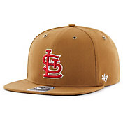 '47 Men's St. Louis Cardinals Carhartt Captain Brown Adjustable Snapback Hat