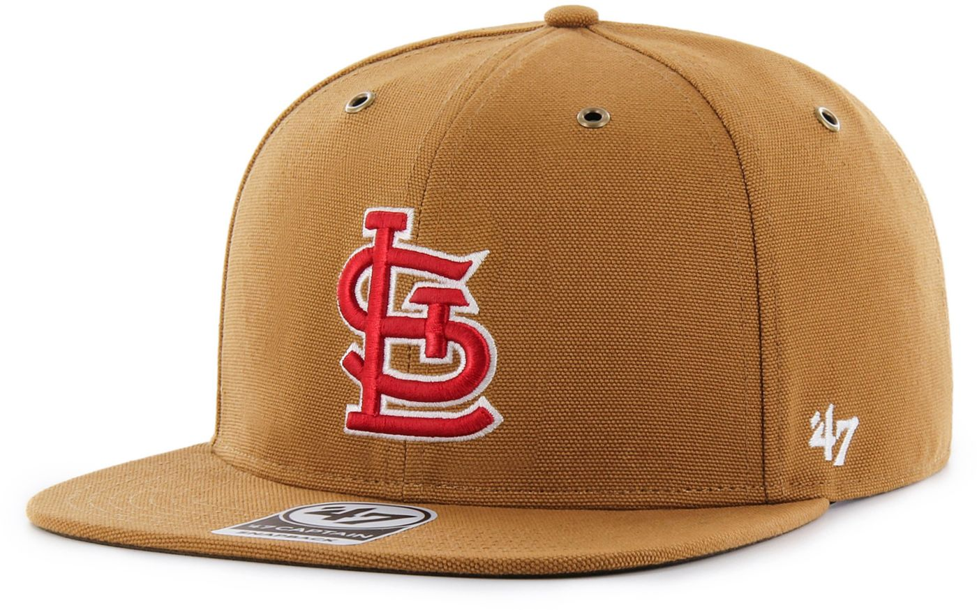 '47 Men's St. Louis Cardinals Carhartt Captain Brown Adjustable Snapback Hat